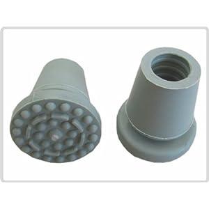 Krückenkapsel für Rohrdurchmesser 17-20mm, flexibel, grau, Gummipuffer