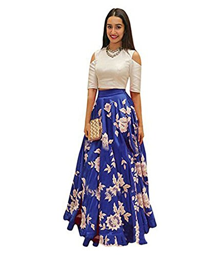 Vaidehi Creation Women's New Attractive CottonSilk Skirt / Lehenga (Royalblue)