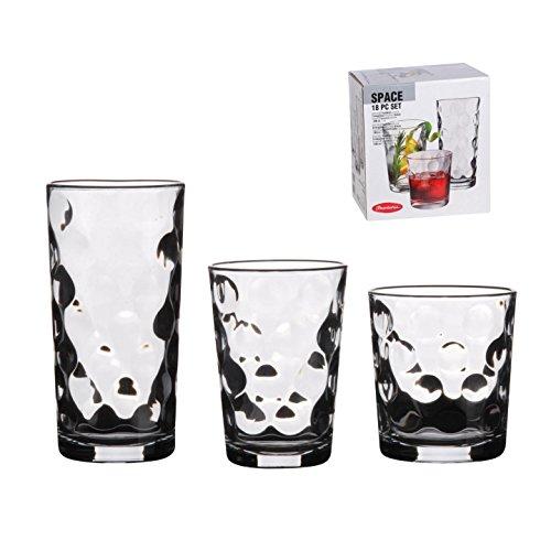 18 Piece Drinking Glassware Set ...