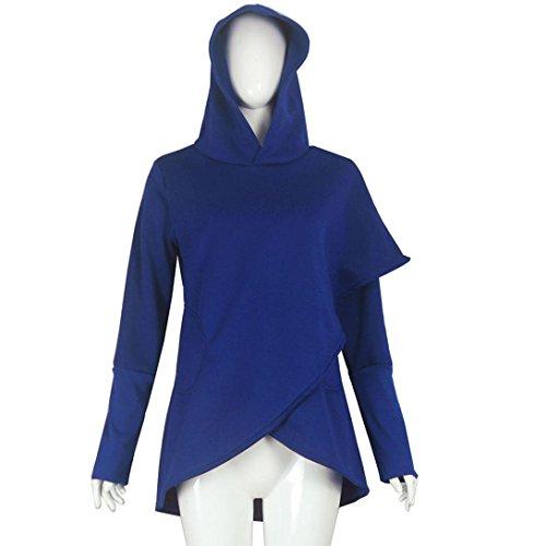 sweat femme a capuche longue ADESHOP chaud vetement femme pas cher fashion manteau femme mode pull femme hiver grande taille t shirt manches longues blouse top sweatshirt femme Bleu