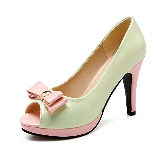 adee-ladies-bows-penny-loafer-pull-on-green-polyurethane-sandals-7-uk