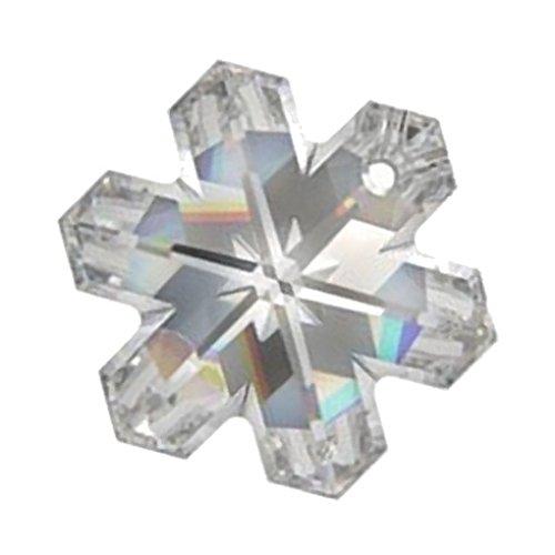 Schneeflocke-Anhänger Kristall AB, 30mm, 1Stück -