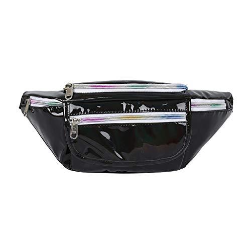 Artistic9 Handbag Frauen Joker Crossbody Gürteltasche Holographische Brusttasche Tasche Metallic Bag Zip