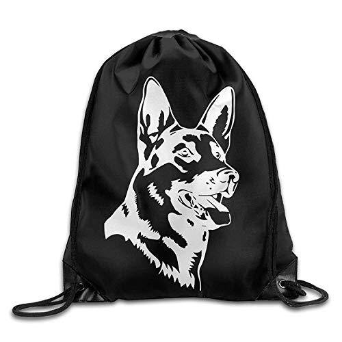 28ab0c96ff0a ewtretr Bolsos De Gimnasio, Hot German Shepherd Dog Drawstring Backpack Bag  Beam Mouth Gym Sack Shoulder Bags For Men & Women