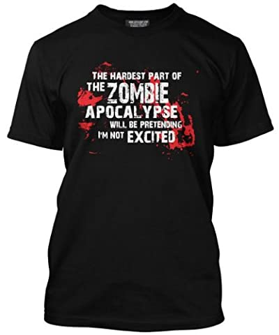 The Hardest Part of the Zombie Apocalypse T-shirt, (Small), Zombie survival kit, apocalypse, plants vs zombies, zombicide, shaun of the dead, zombieland, walking dead, zombie army trilogy, zombie dice, dvd, movie, film, merchandise, halloween, t shirt, tee, horror, Funny, geekey, geekery, nerdy