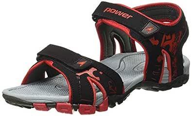 BATA Indian Shoe's Track Black Floaters-5 Kids UK/India (23 EU) (4616136)