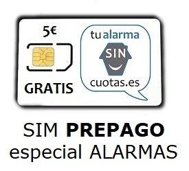 Tarjeta SIM para Alarma  PREPAGO SIN cuotas fijas NI...