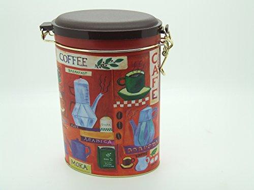 Boite à Café Rangement Fun Design ovale Rouge-Clip Couvercle
