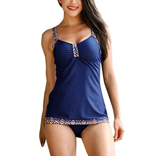 Yvelands Damen Bademode Bikini Tankini Sets Mit Jungen Shorts Bikini SetsBadebekleidung Push-Up Gepolsterter BH