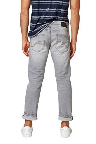edc by ESPRIT Herren Straight Jeans Grau (Grey Light Wash 923)