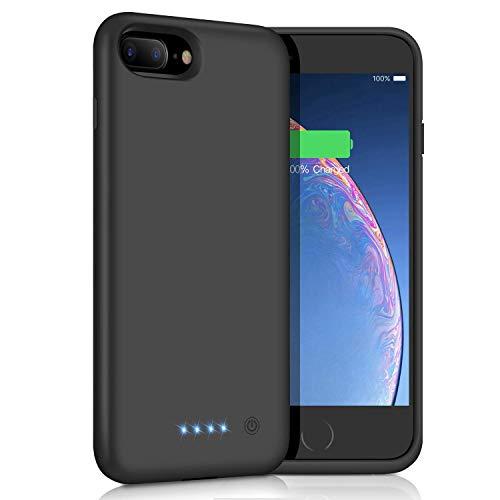 Akku Hülle für iPhone 6 Plus/6s Plus/7 Plus/8 Plus, 8500mAh Tragbare Ladebatterie Zusatzakku Externe Handyhülle Wiederaufladbare Batterie Case für iPhone 8 Plus/7 Plus/6s Plus/6 Plus-5,5