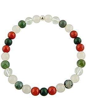 Sunsara Traumsteinshop Edelstein Sternzeichen Armband - Stier, mit 925er Silber Perle, Heilsteinarmband, Stretcharmband...