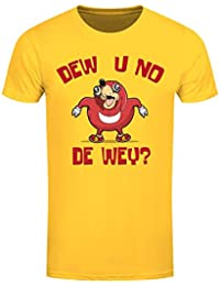 Grindstore Men's Dew U No De wey T-Shirt Yellow
