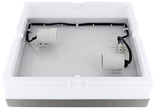 Plafoniera Quadrata E27 : Plafoniera in acciaio inox da bagno ip max w