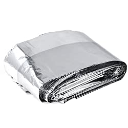 Sodial(r) 10 Pcs Foil Space Blanket Emergency Survival Blanket - 140 X 240cm