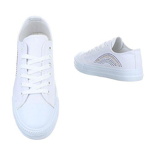 Ital-Design Sneaker Donna, Bianco (Bianco), 40