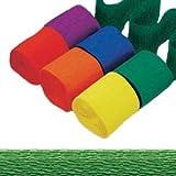PARTY DISCOUNT Krepppapier-Bänder, 4,4cm x 24,7m, Holiday Grün