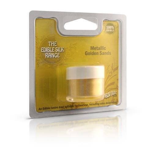Rainbow Dust Edible Silk Essbarer Glitzerpuder , Farben:Metallic Golden Sands