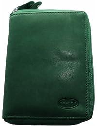 BRANCO große Leder Damen Geldbörse Portemonnaie Börse Etui Edel grün