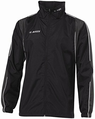 Masita-Giacca a vento, giacche 173006) Madrid-Salopette ciclismo, con cerniera - nero/antracite