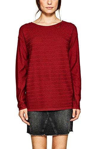 ESPRIT Damen Pullover 087EE1I001, Rot (Garnet Red 620), Small