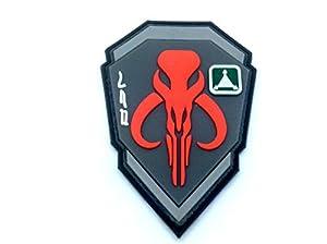 Chasseur de Primes Boba Fett Mandalorien Bantha Tête de mort Rouge 3d en PVC Paintball Patch