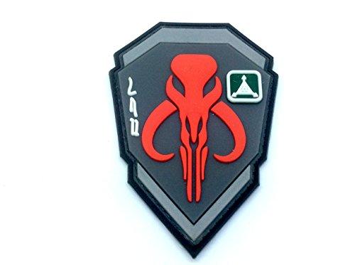 Bounty Hunter Boba Fett Mandalorian Bantha Totenkopf rot 3D PVC Paintball Patch (Star Wars Pvc-patch)
