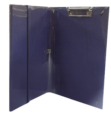 Semikolon Buchstabe/A4Größe linen-textured Clip Ordner A4+ marineblau