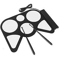 LeaningTech® USB PC digitale elettronico rimboccarsi Drum Pad cavo Pad Kit musica pratica Drumset