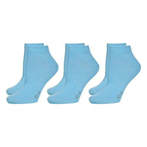 3er Pack Sneaker Socken Hellblau, 39-42 -