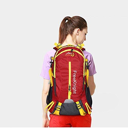 Il nuovo modo impermeabile borsa sportiva per il tempo libero all'aperto 40L dello zaino di alpinismo Ultralight rosso