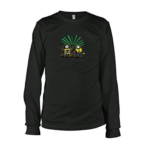 TEXLAB - Bat vs. Super Banana - Herren Langarm T-Shirt, Größe M, (Minion Kostüme Dark)