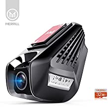 Merrill 1296P oculta Dash Cam WiFi 170° gran angular visión nocturna coche cámara 15megapíxeles y 32GB TF tarjeta
