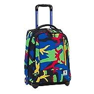 2 in 1 Trolley Sac à dos INVICTA - TINDY - Camouflage en couleurs - 36 LT - Bretelles entièrement escamotables! école et loisirs nouveau