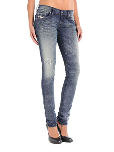 Diesel Donna Grupee 0838T Stretch Jeans (28W / 30L, Blu)