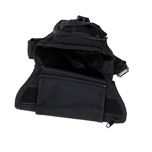 Wisamic Tactical Hip Bag Hüfttasche Beintasche,Sport Taktische Airsoft Militär Tropfen Bein Schenkel Bag Dienstprogramm Gürtel Tasche Beinbeutel Schwarz