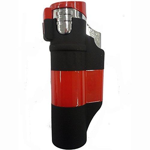 Unbekannt Feuerzeug Atomic Athen Schwarz-Rot mit Mehrfach-Jet-Strahl-Flamme