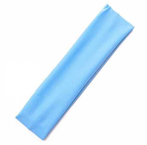 2X Toruiwa Sport Haarband Elastische Stirnband für Laufende Yoga Fitness (Blau) (Make-up Jubeln)