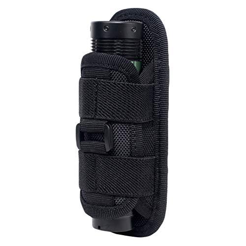 Leezo tactique 360 degrés rotatif lampe de poche étui étui torche étui pour ceinture porte-torche portable chasse accessoires d'éclairage, étui de la torche 360 degrés rotatif