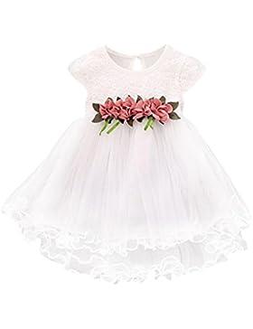 Vovotrade Niñas bebés del niño Verano Blanco Floral Vestido princesa Boda del partido Tulle Vestidos de gasa 0...
