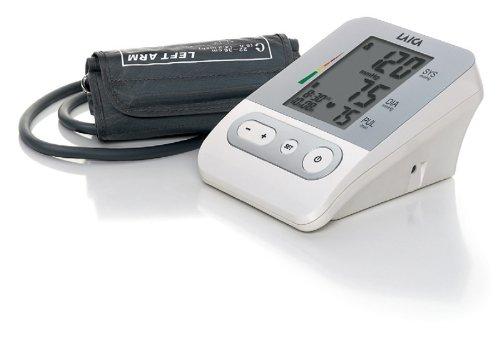 Laica BM2301 Misuratore di Pressione Sanguigna da Braccio Automatico, 120 Memorie Totali, Bianco/Argento