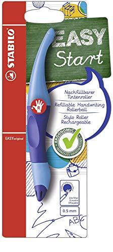 Ergonomischer Tintenroller für Rechtshänder - STABILO EASYoriginal in dunkel-/hellblau - Schreibfarbe blau (löschbar) - inklusive Patrone