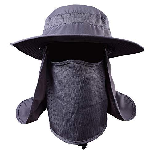 QYWSJ Breiter Krempe Angeln Hut Sonnenhüte, Schnell Trocknende Atmungsaktive Outdoor-Kappen Für Männer Frauen, Nackenklappe, Uv-Schutz Columbia-mesh-hut