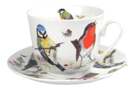 Roy Kirkham Jardin Oiseaux Breakfast Cup and Saucer