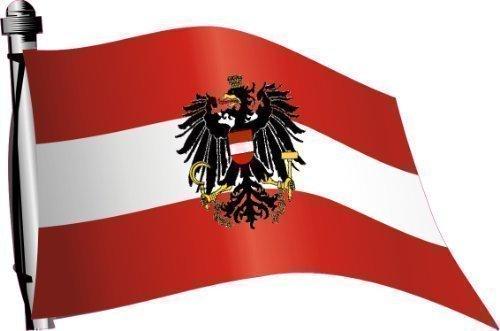 Aufkleber Flagge Österreich wehend 30 x 20cm