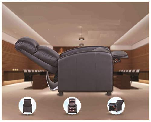 Prixton poltrona relax massaggiante reclinabile nera con sistema di calore lombare