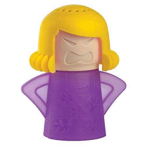 Preisvergleich Produktbild Minkoll Mikrowelle Reiniger, Wütend Mama Ofen schnelle Aktion Dampf Küche Gadget Werkzeug (gelb violett)
