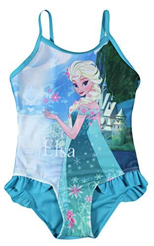 Disney Frozen Mädchen Schwimmen Kostüm (Blau, 7/8 - Frozen Kostüm Für Kleinkind