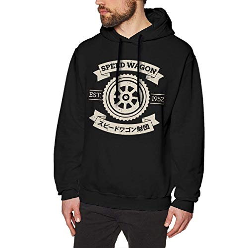 Speed Wagon Foundation Mens Long Sleeve Sweatshirts Man Hoodies Black Star Zip Youth Sweatshirt
