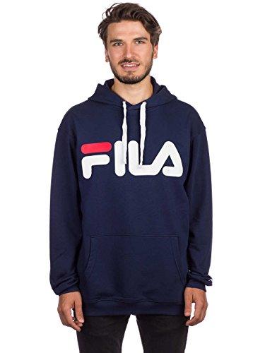 Männer Pullover Muster (Fila Classic Logo Hoody, Sweatshirt,Blau,L)